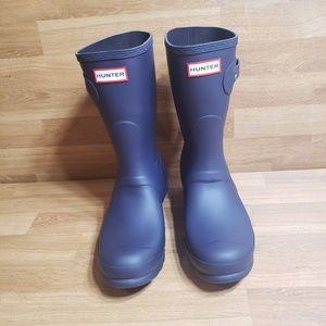 Hunter Original Short Purple Aubergine Rain Boots